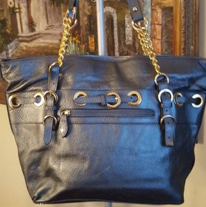 Barr and barr new york blue gold tote
